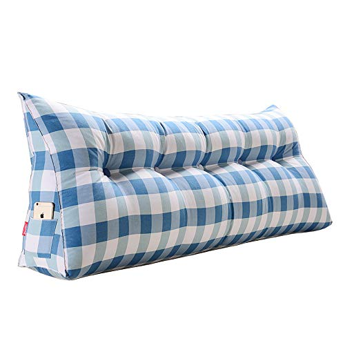 (GAOQQ Triangle Wedge Large Back Cushion, Bed/Tatami / Sofa Soft Comfort Lumbar Support Pillow,D-60x20x50CM)