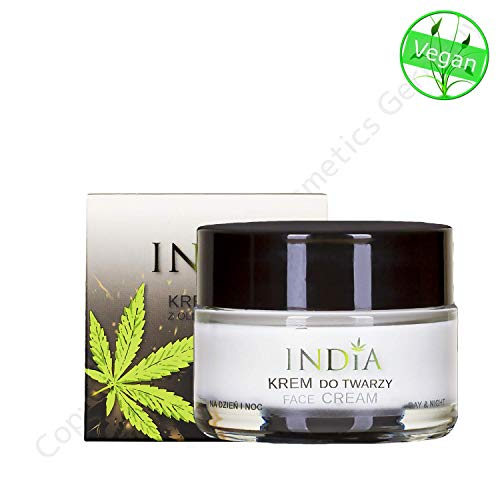 Face cream with organic Cannabis oil. Moisturizing in dry skin and atopic dermatitis, in Premium Quality for Day and Night use. (Best Night Cream For Dry Skin In India)