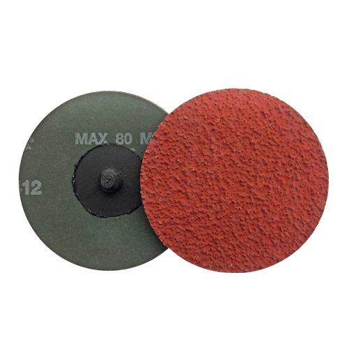 VSM 3' Quick Change Resin Fiber Disc, 24 Grit, XF885 Ceramic+, Quick Change Type R, Fiber Backing, Pack of 25 VSM Abrasives Co. 150177