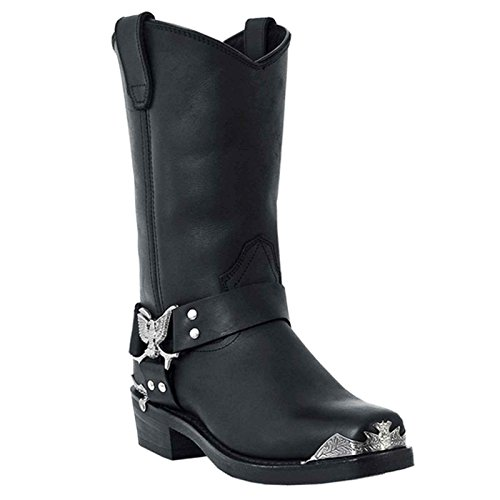 Square Toe Harness Boots - 9