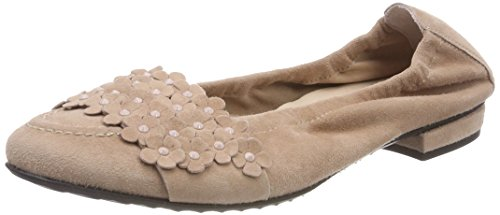 Kennel und Schmenger Women's Malu Closed Toe Ballet Flats Beige (Rosette 508) fake cheap price supply cheap price free shipping 2014 LGP2dUOqN4