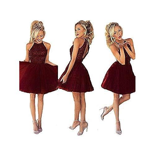 Short Burgundy Dresses