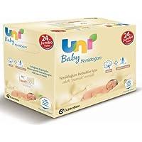Uni Baby Yenidoğan Islak Pamuk Mendil 24'lü Fırsat Paketi / 960 Yaprak