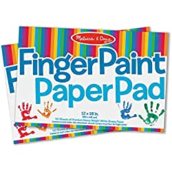 "Melissa & Doug Finger-Paint Paper Pad 2-Pack (Arts & Crafts, Top-Bound Pads, Glossy Paper, Nonabsorbent, 50 Sheets Each, 17"" H x 12"" W x 0.25"" L)"