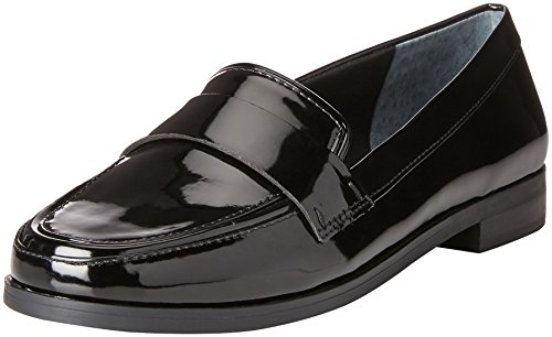 Franco Sarto Women's L-Valera Slip-On Loafer, Black, 8.5 W US (Franco Sarto Patent Leather Shoes)