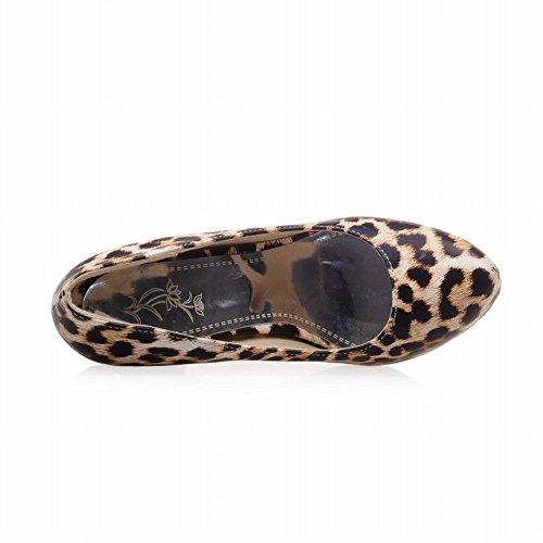 Latasa Kvinna Sexig Leopard Print Hög Klack Ledig Klädsel Pumpar Skor Gul