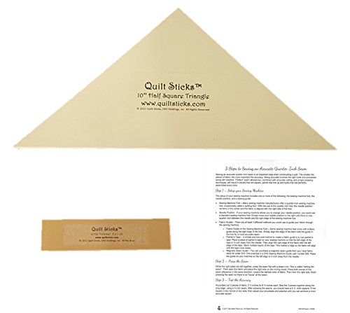 0.25 Trimmer (Quilt Sticks Quilting Triangle Bundle - 3 Items: Half-Square Triangle Template, Little Trimmer and Instructions for Sewing an Accurate Quarter-Inch Seam)