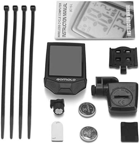Qomolo Multifunctional Bicycle Computer Wireless Bike Speedometer Digital