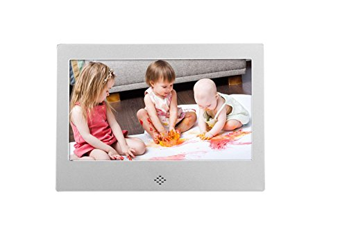 ? 7'' Digital Photo Frame ? Screen 800×480 High Resolution Aluminum alloy Support MP3 MP4 Video Player Clock and Calendar Function with Remote Control? , sliver