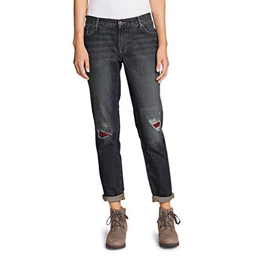 Discount Eddie Bauer Women's Boyfriend Flannel-Patch Jeans hot sale