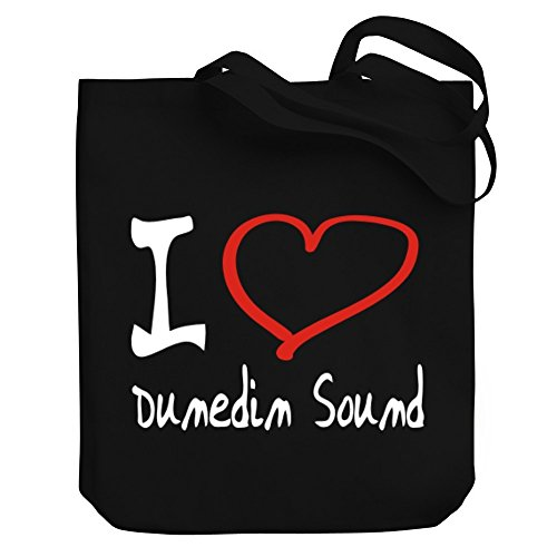 Teeburon I LOVE Dunedin Sound Canvas Tote - Shopping Dunedin