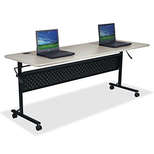 Lorell LLR60673 Flipper Training Table, 24x72, Light