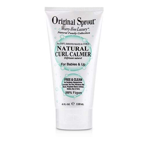 Original Sprout Natural Curl Calmer. All Natural Hair Care. Curly Hair Moisturizer and Hair Strengthener. 4 ounce. (Best Moisturizer For Natural Curly Hair)