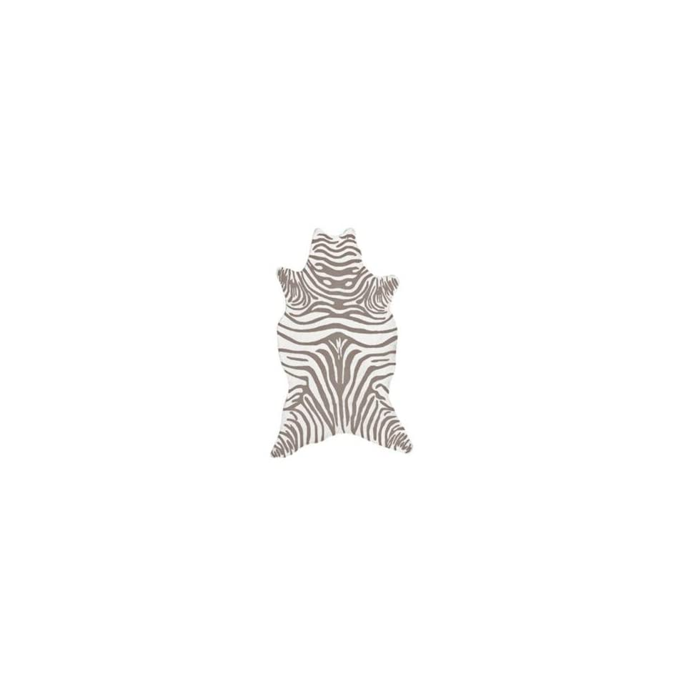 Grey Zebra Indoor Outdoor Rug