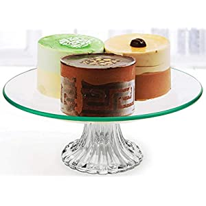 "Circleware 55166 Chic Small Round Glass Cake Stand Plate Home and Kitchen Entertainment Food Serving Platter for Fruit, Ice Cream, Dessert, Salad, Cheese, Candy, Best Selling Gifts 8"" Clear 68"