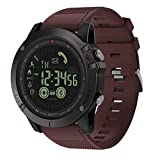 Cywulin Zeblaze Vibe 3 Smart Watch Fitness Tracker, IP67 Waterproof Sport Wrist Bracelet Large Screen Activity Tracking Music Camera Control Heart Rate Sleep Monitor for iOS Android Men Women (Red)