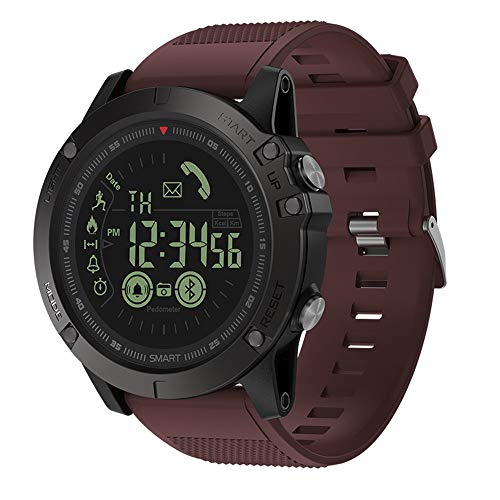 Cywulin Zeblaze Vibe 3 Smart Watch Fitness Tracker, IP67 Waterproof Sport Wrist Bracelet Large Screen Activity Tracking Music Camera Control Heart Rate Sleep Monitor for iOS Android Men Women (Red) ()