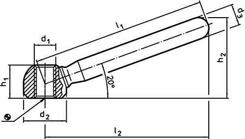 Halder 24470.0510/Clamping Nuts /Length 100/mm//Galvanised Steel Steel/