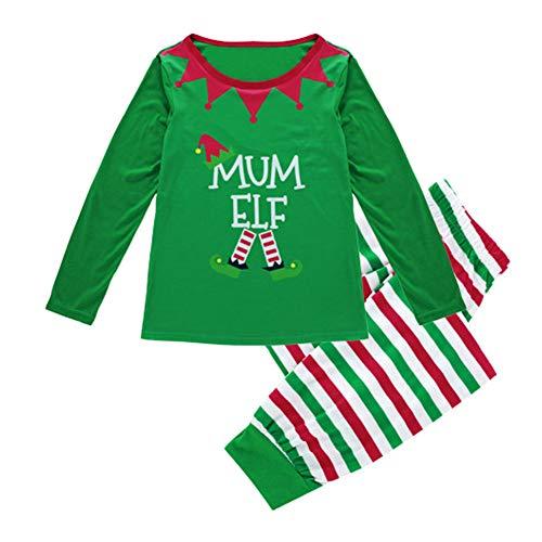 Manica L'intera Pantaloni Lunga Camicetta Notte Famiglia Per Natale Pigiama Matching Set Mom Pjs Striscia Da E Indumenti Poonkuos PWUIYqn