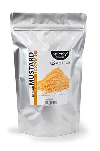 Spicely Organic Mustard Powder (Yellow) (1 LB bag) Organic Vegan Mustard