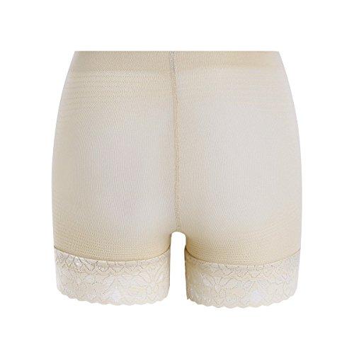 YIZYIF Ropa Interior de Seguridad Mujer Contracción Abdominal Encaje Respirable Braguita para Mujeres Desnudo