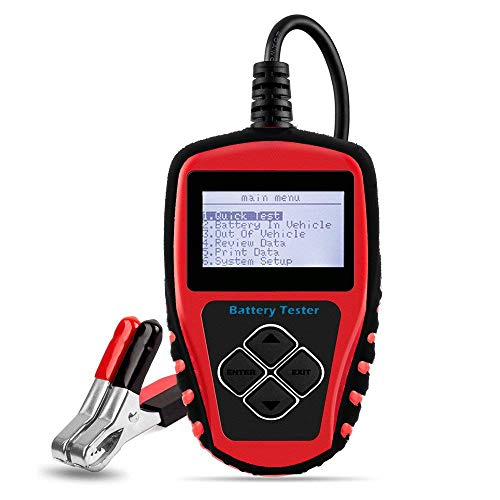[Upgraded Version] Roadi 3 in 1 auto Battery Tester, Alternator& Starter Tester Compatible for 12V Domestic & Imported Car/Truck - Accurate Test with Professional User Manual & Protective case. ()
