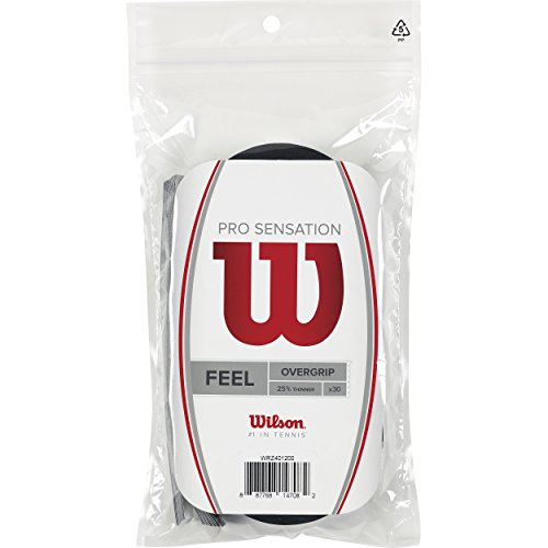 Wilson Pro Sensation Overgrip (30-Pack), Black