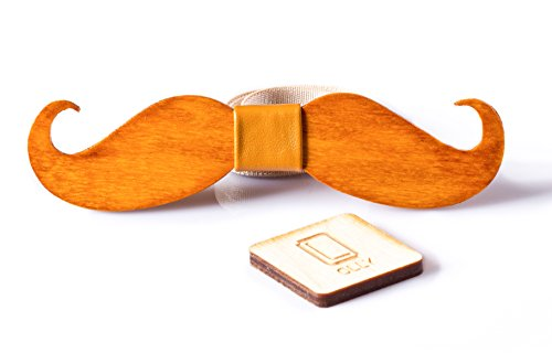 SALE Olly Mens Mustache Wooden product image