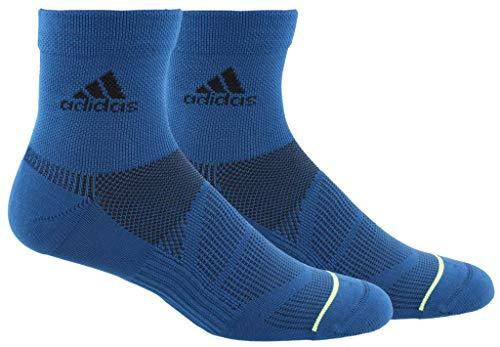 - adidas Men's Superlite Prime Mesh Quarter Socks (2-Pack), Legend Marine Blue/Hi - Res Yellow/Black, 6-12