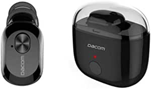 DACOM K6P Super Mini Auricular Wireless Bluetooth Earbud Mono Headset Earphone with Charging Case for Samsung Galaxy A6s, A9, A7, Note9, J6 Plus, J4Plus - Black