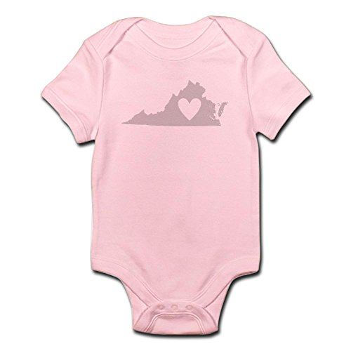 CafePress Heart Virginia Infant Bodysuit - Cute Infant Bodysuit Baby Romper