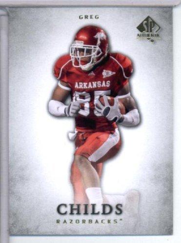 - 2012 Upper Deck SP Authentic # 39 Greg Childs RC - Arkansas Razorbacks / Minnesota Vikings (RC - Rookie Card) NFL Football Trading Card