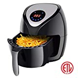 Costzon Electric Air Fryer, 3.2 Qt.1400W Healthy Oil Free Cooking, Touch Screen with Timer Temperature Control