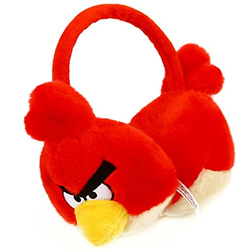 , Angry Birds Doll Figure Red Earmuffs Animal Pretend Play Costume]()