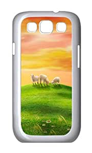 Samsung S3 Case,VUTTOO Stylish Sheep Natural Scenery Hard Case For Samsung Galaxy S3 I9300 - PC White