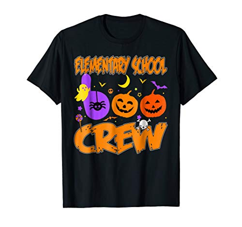 Elementary School BOO Crew Pumpkin Costume Candy Ghost Shirt