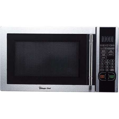 Cheap Digital Microwave, Stainless Steel 6 PreProgrammed, 1-touch Menu Buttons 1.1 Cu. Ft.
