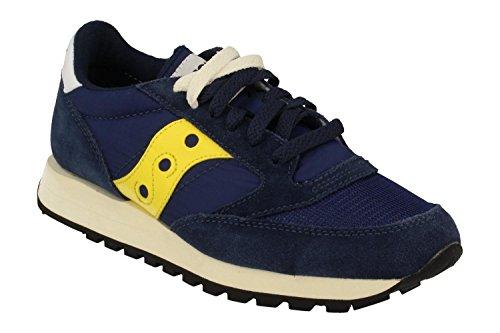 Saucony scarpe sneakers uomo camoscio nuove jazz original vintage blu Blu
