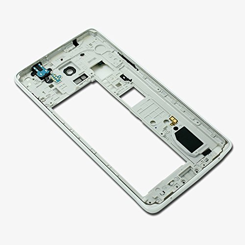 Middle Frame Housing - Middle Frame Housing Back Cover Bezel for Samsung Galaxy Note 4 N910f White