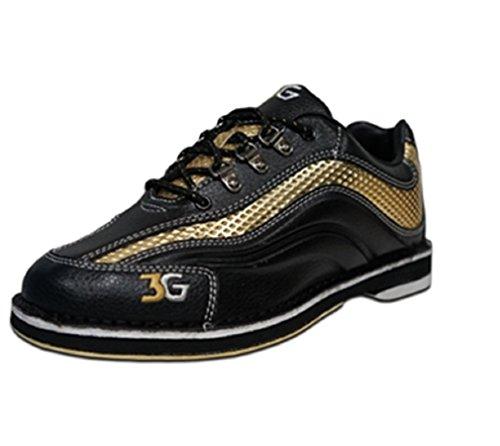 3G Herren Sport Ultra Bowling Schuhe - Schwarz / Gold Größe 10 1/2 Rechte