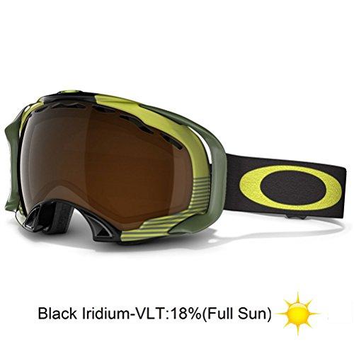 Oakley Splice Shaun White Signature Series Snow Goggle, Neon Yellow Block Stripes with Black ()