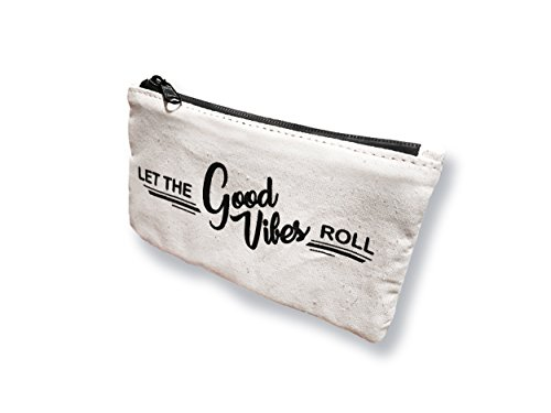 Let The Good Vibes Roll Anti-Odor And Smell Proof Bag 7'' by 4'' Canvas