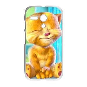 Motorola G Cell Phone Case White Talking Ginger, a cat SJ9450511