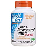 Doctor's Best, Trans-Resveratrol with ResVinol, Non-GMO, Vegan, Gluten Free, Soy Free, 200 mg, 60 Veggie Caps