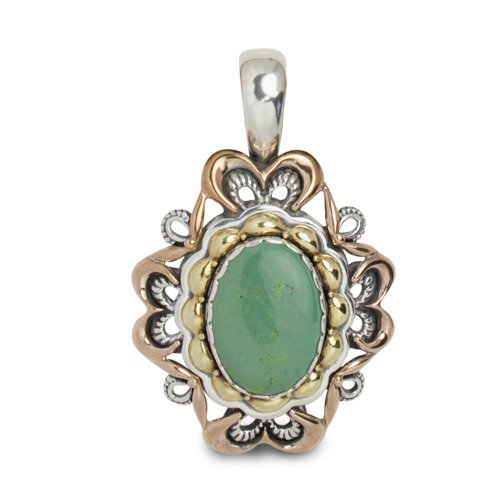 Carolyn Pollack Sterling Silver Green Turquoise Pendant Enhancer by Carolyn Pollack (Image #6)