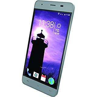 "Slide Unlocked Dual Sim Smartphone 5"" IPS Display 4G LTE GSM 13MP Camera Quad Core 1.3GHz Processor, Gray"