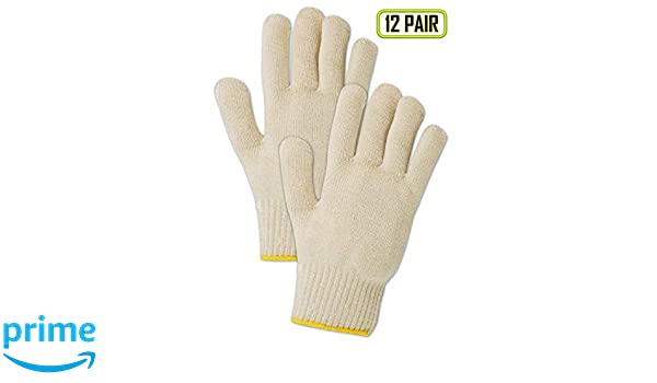 72 Pairs String Knit Gloves Poly//Cotton Industrial Grade for Men/'s