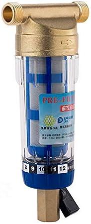 purely life sifón de Lavado pre-Filtro con Sistema purificador del Limpiador de Agua de 40 micras de del Agua 1/2