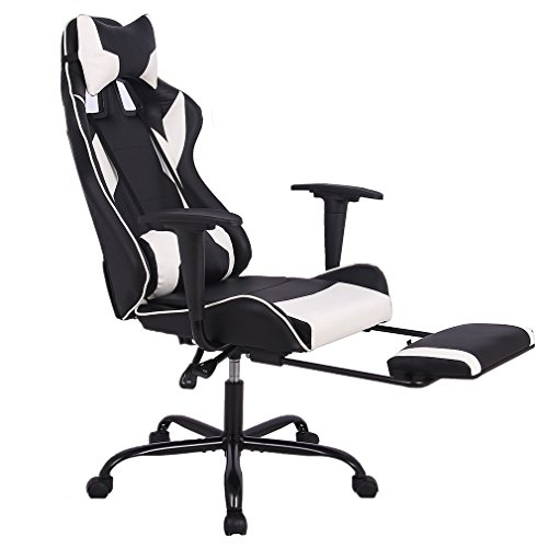 Chair Ergonomic Swivel Chair High Back Racing Chair, with Footrest Lumbar Support and Headrest ()