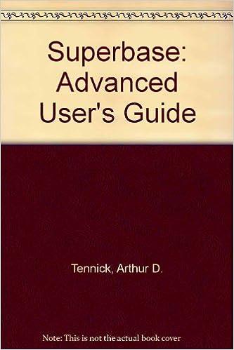Superbase: Advanced User's Guide